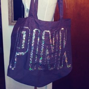 Victoria's Secret PINK Canvas Sequined Tote Bag